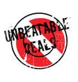 unbeatable deals rubber stamp vector image vector image