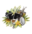 Watercolor summer design vector image vector image