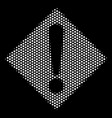 white dot warning icon vector image vector image