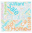 Why Would a Lender Do a Short Sale text background vector image vector image