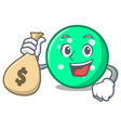 with money bag circle character cartoon style vector image