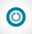 wreath icon bold blue circle border vector image vector image