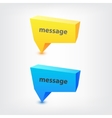 colorful 3d geometric speech bubbles vector image