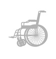 Wheelchair silhouette Stroller with wheels for vector image