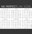 180 modern thin line icons set of legal law and