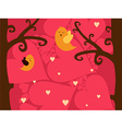 a sweet valentine card vector image