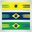 Abstract design Brazilian flag vector image vector image