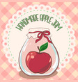 apple jam label printable jar label template vector image