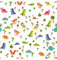 badino seamless pattern animal dragon and vector image