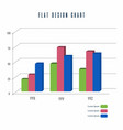 bar chart info graphics elements design vector image