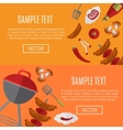 Barbecue grill horizontal website templates vector image vector image