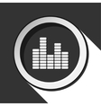 black icon - equalizer and stylized shadow vector image vector image