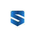 blue letter s modern logo design inspiration vector image vector image