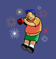 Boy And New Year Trumpet vector image