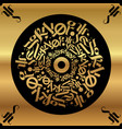 calligraphy on a gold background gold wallpaper vector image