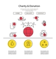 Charity and donation concept vector image vector image