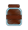 chocolate paste packaging cream in a glass bottle vector image vector image