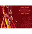 Christmas waves background vector image
