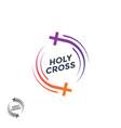 church logo holy cross christian logo vector image vector image