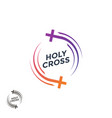 church logo the holy cross christian logo vector image
