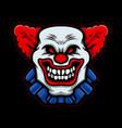 clown head vector image vector image