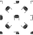concrete mixer pattern seamless black vector image vector image