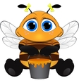 Cute little bee vector image vector image