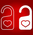 do not disturb with heart line and glyph icon vector image vector image