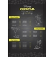 Drawing vertical cocktail menu design vector image vector image