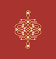 elegant golden knot sign vector image vector image