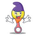 elf rattle toy character cartoon vector image