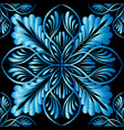 embroidery blue floral seamless pattern tapestry vector image