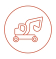 Excavator truck line icon vector image vector image