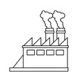 factory silhouette draw vector image vector image