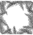 Fir tree hand drawn frame for winter and vector image vector image