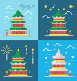 Flat design 4 styles of summer palace Beijing Chin vector image