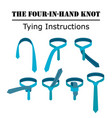 four in hand tie knot instructions isolated on vector image