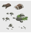 Fragments of the ancient ship and stones vector image vector image