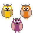 Funny colorful owls vector | Price: 1 Credit (USD $1)