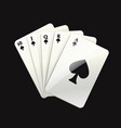 game black cards - modern realistic vector image vector image
