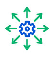 gear arrows icon outline vector image vector image