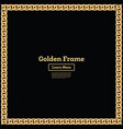 golden chain square border frame rectangle shape vector image vector image