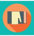 Hand with book Knowledge education flat concept vector image vector image