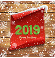 Happy new year 2019 greeting card banner template