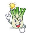 have an idea fennel mascot cartoon style vector image vector image