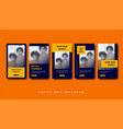 healthcare medical instagram stories promotion vector image