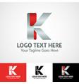 hi-tech trendy initial icon logo k vector image vector image