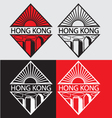 Hong Kong city logotype concep vector image