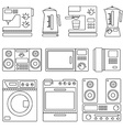 icons home appliances vector image
