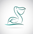 image of an pelican vector image vector image